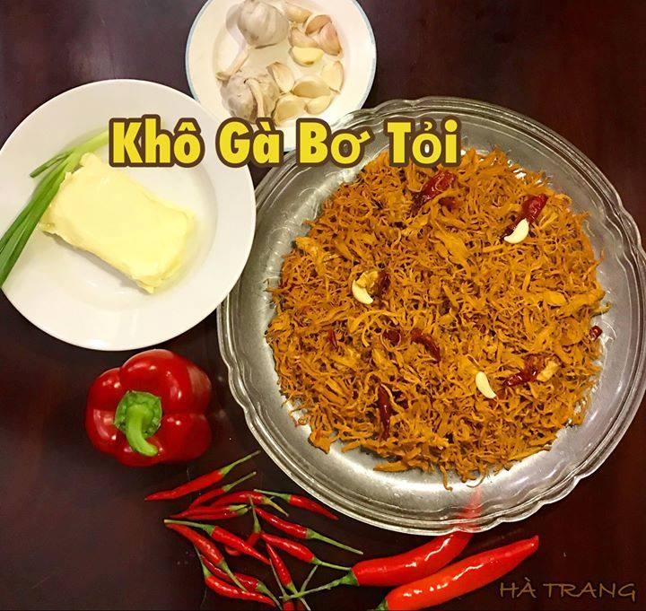 Khô gà bơ tỏi Hà Trang loại 1 - 200g