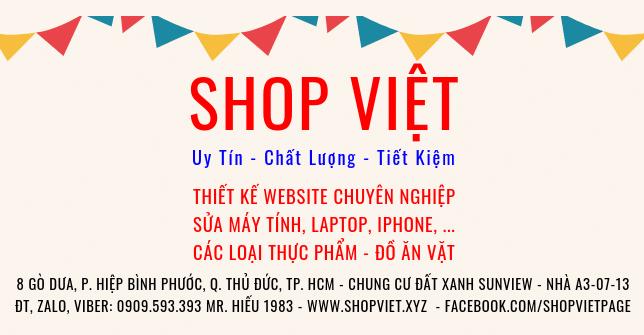 SHOP VIET Website Banner