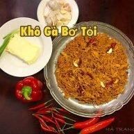 Khô gà bơ tỏi Hà Trang loại 1 - 100g