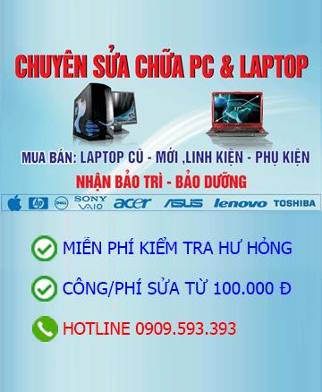 Sửa chữa máy tính PC & Laptop