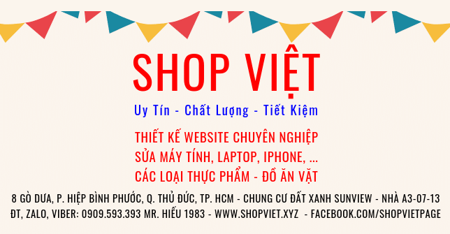 SHOP VIET Website Banner