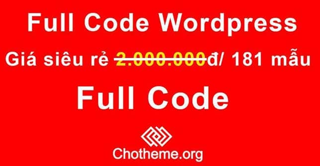 Trọn bộ 181 Theme Wordpress trênChoTheme.org